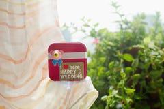 сердца подарка элегантности предпосылки pink романтичное венчание символа Стоковая Фотография RF