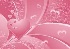 сердца подняли Стоковое Изображение