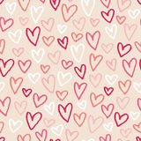 сердца предпосылки делают по образцу безшовный эскиз Стоковое Изображение