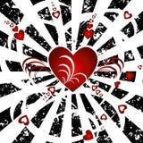 сердца предпосылки Стоковое Изображение