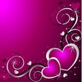 сердца предпосылки Стоковое Изображение RF