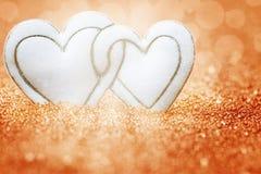 Сердца, предпосылка на день валентинки Стоковая Фотография