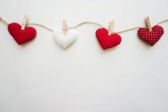 сердца предпосылки яркие Стоковая Фотография RF
