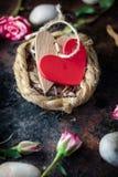 2 сердца прыгнутого совместно на гнезде Стоковое Изображение