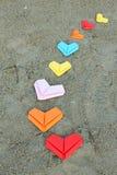 Сердца разнообразия бумажные Стоковое Изображение RF