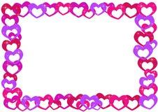 сердца рамки шаржа Стоковое фото RF