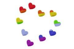 Сердца радуги Стоковые Изображения