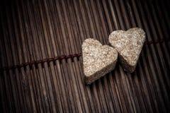 2 сердца сахара стоковые изображения