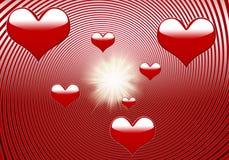 Сердца свирли - полюбите предпосылку Стоковая Фотография RF