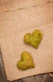 2 сердца сена Стоковые Изображения