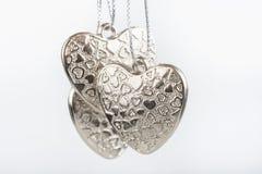 сердца серебрят 3 Стоковая Фотография