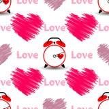 Сердца с влюбленностью и вахтой слова картина безшовная бесплатная иллюстрация