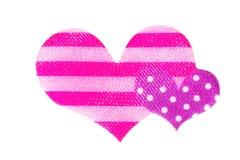 2 сердца сделанного из ткани Стоковые Изображения RF