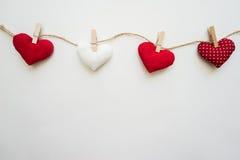 Сердца сделанные с руками Стоковые Фото