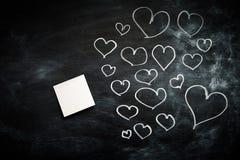 Сердца с столбом оно Стоковое фото RF