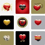 сердца установили вектор 2 Стоковые Изображения