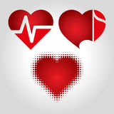 Сердца установили логотип Стоковое фото RF