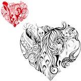 Сердца фантазии Стоковое Изображение
