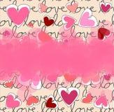 Предпосылка влюбленности Стоковое Фото
