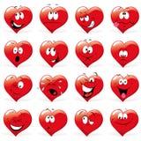Сердца шаржа Стоковое Фото