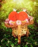 2 сердца любовников Стоковые Изображения