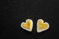 2 сердца яичка Стоковая Фотография RF