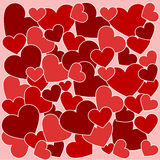сердца делают по образцу безшовное Стоковое Изображение