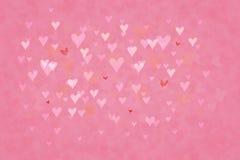 Сердца bokeh предпосылки Стоковое Изображение RF