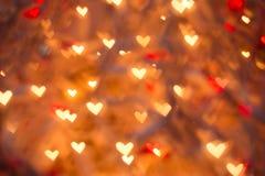 Сердца Bokeh Стоковая Фотография