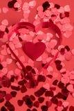 сердца confetti красные Стоковое Изображение RF