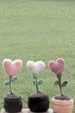 Сердца decorationsflower валентинок Стоковое Изображение
