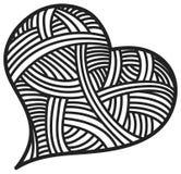 Сердца doodle дня валентинки Стоковая Фотография