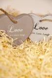 Сердца Loveing деревянные Стоковое фото RF