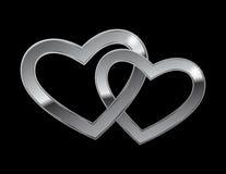 сердца metal 2 Стоковые Изображения RF
