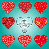 Сердца vector комплект Стоковые Фотографии RF