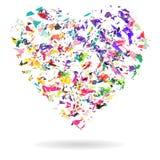 Сердце, абстрактная форма сердца облака Стоковое Изображение