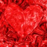 Сердце абстрактной текстуры красное, влюбленность Иллюстрация штока