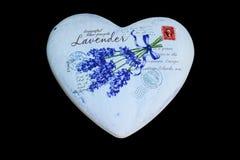 Сердце лаванды Стоковая Фотография