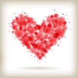 Сердце акварели Стоковые Фотографии RF