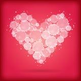 Сердце акварели Стоковые Фото