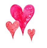 Сердце акварели Стоковые Изображения