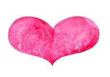 Сердце акварели Стоковое фото RF