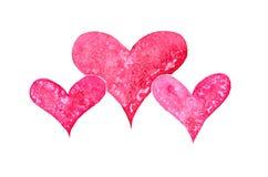 Сердце акварели Стоковое Изображение RF