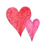 Сердце акварели Стоковые Изображения RF