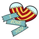 Сердце валентинки вектора я тебя люблю Стоковые Фото