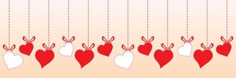 Сердце валентинки - дизайн границы иллюстрация вектора