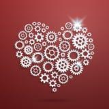 Сердце вектора механически иллюстрация штока