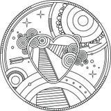 Сердце взрослой страницы расцветки милое Символ дня Валентайн иллюстрация вектора