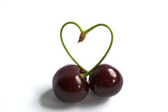Сердце вишни Стоковая Фотография RF