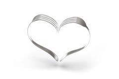 Сердце вилок на белой предпосылке Стоковое Изображение